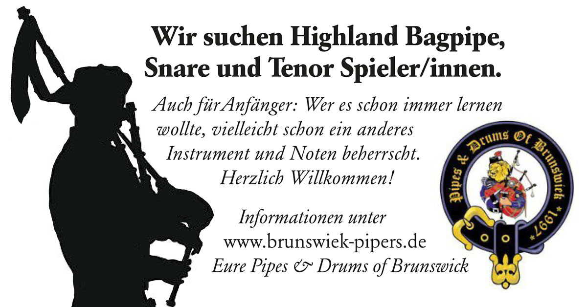 Bagpipe Banner Mitspieler K1a